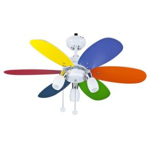 Παιδικός Ανεμιστήρας Οροφής με Φως Χρωματιστός 20-0076-51-188 Sun Light
