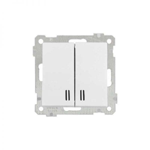 Διακόπτης Κ/Μ Φωτιζόμενος Λευκός 10A Daria Mutlusan-6005108