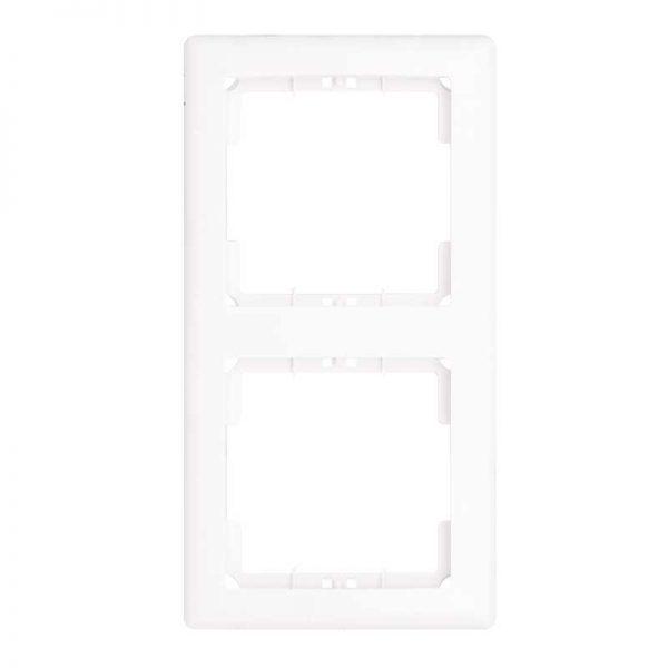 Πλαίσιο Διακοπτών Διπλό Κάθετο Λευκό Daria Mutlusan-6010192