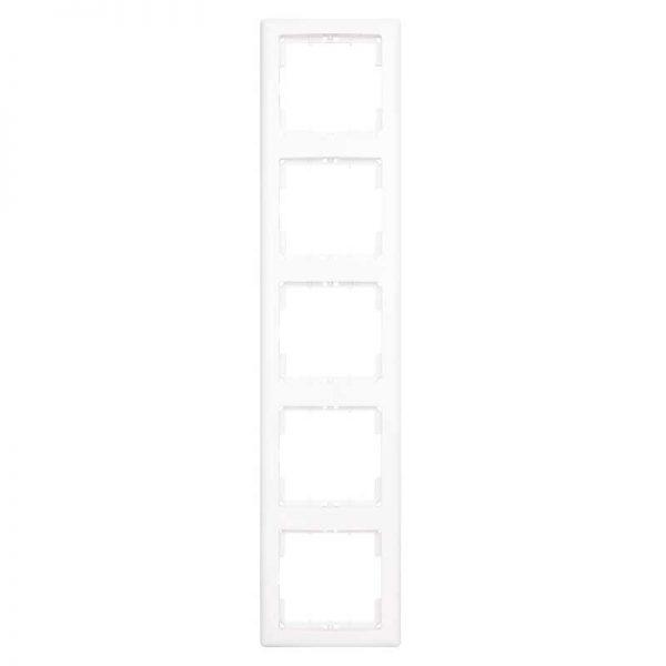 Πλαίσιο Διακοπτών Πενταπλό Κάθετο Λευκό Daria Mutlusan-6010195/1