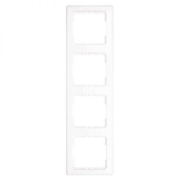 Πλαίσιο Διακοπτών Τετραπλό Κάθετο Λευκό Daria Mutlusan-6010194