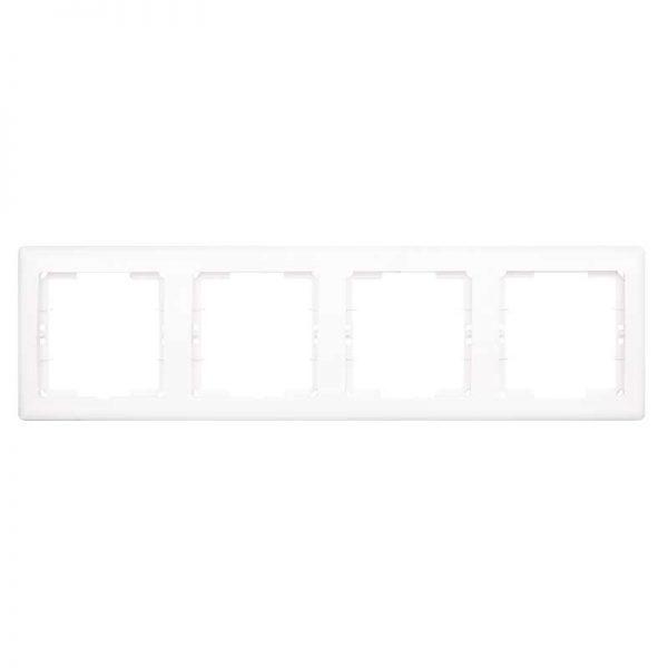 Πλαίσιο Διακοπτών Τετραπλό Οριζόντιο Λευκό Daria Mutlusan-6010194/1
