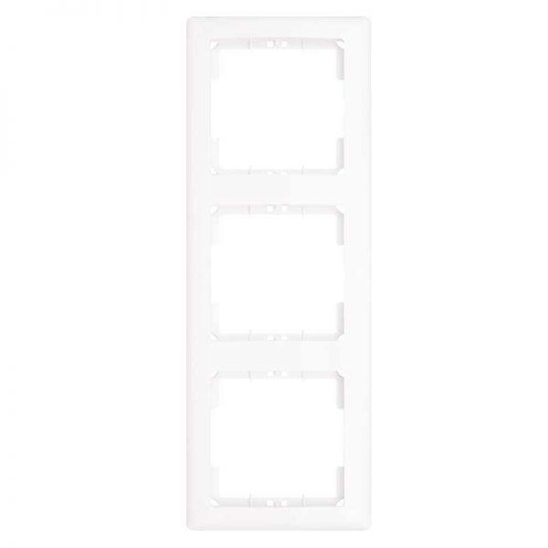 Πλαίσιο Διακοπτών Τριπλό Κάθετο Λευκό Daria Mutlusan-6010193