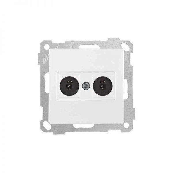 Πρίζα Ηχείων Διπλή Stereo Λευκή Daria Mutlusan-6005188