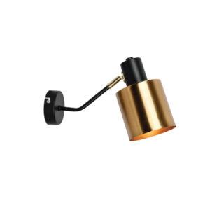 InLight Επιτοίχιο φωτιστικό από μαύρο και χρυσαφί μέταλλο (43018)