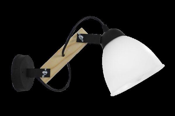 Φωτιστικό τοίχου σπαστό κάθετο μαύρο BREAK-03ΑΡ OVO BL-WH 31-1238