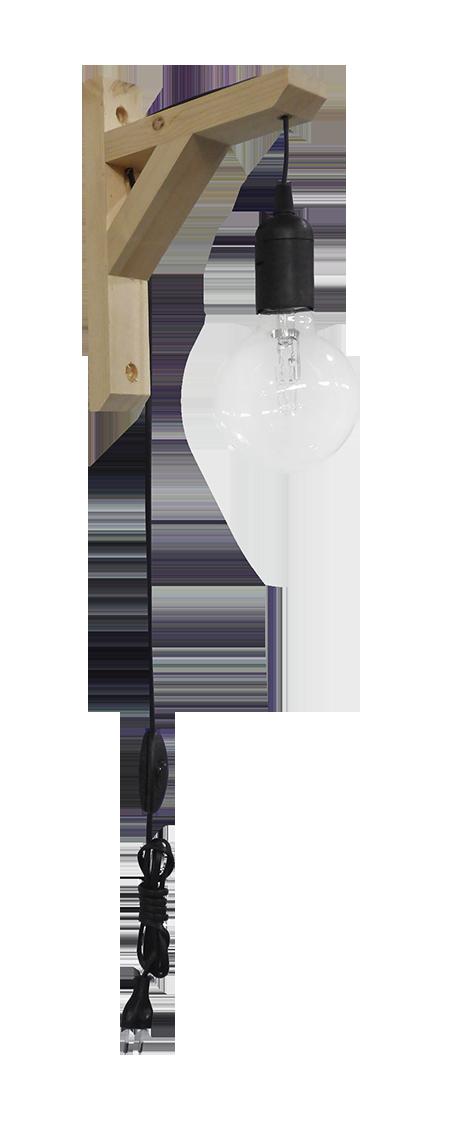 Φωτιστικό απλίκα E/27AP FIS BLACK 31-1097