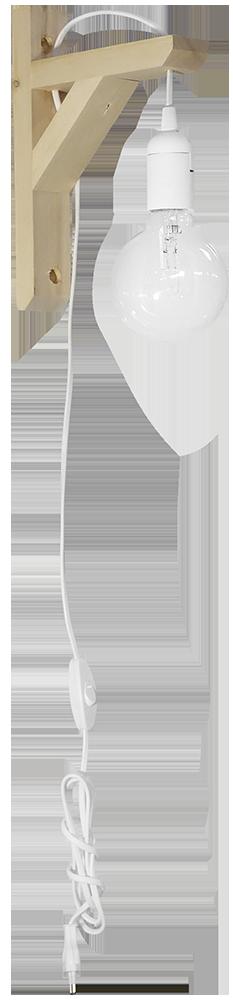 Φωτιστικό απλίκα E/27AP FIS WHITE 31-1098