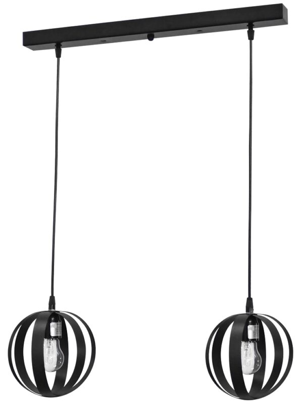 Κρεμαστό φωτιστικό μεταλλικό LAMA 2/L RAGA CE BLACK 34-0058