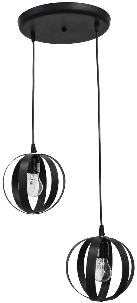 Κρεμαστό φωτιστικό μεταλλικό LAMA 2/L PENDEL BLACK 34-0061