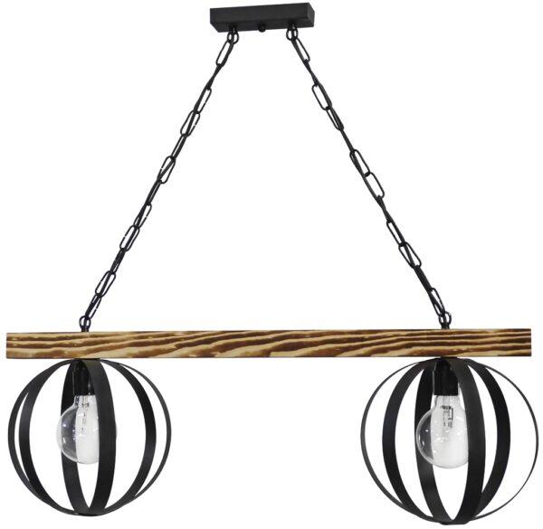 Φωτιστικό ράγα LAMA 2L RAGA CHAIN BLACK 34-0069