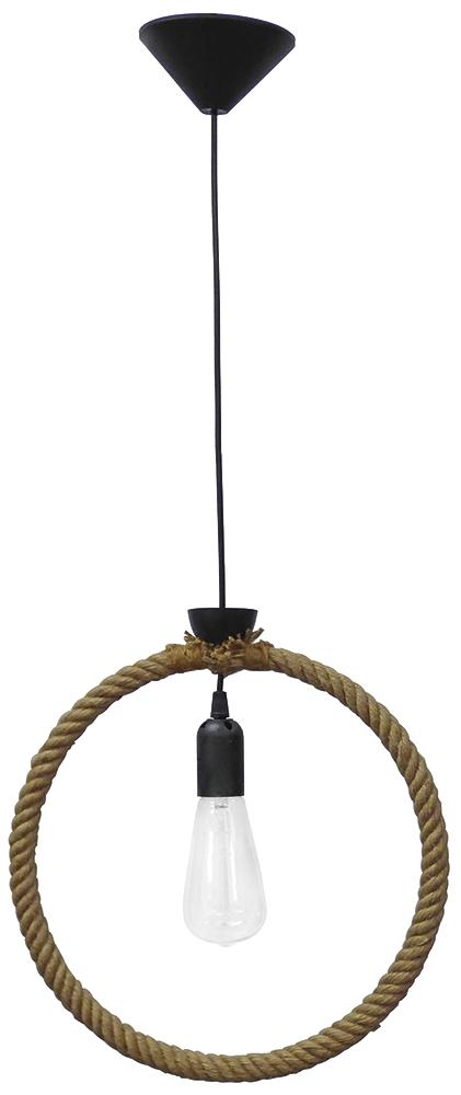 Κρεμαστό φωτιστικό KYKLOS  1/L ROPE UT-BLACK 34-0039