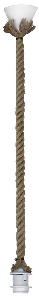 Κρεμαστό φωτιστικό  E/27K ROPE RING 1L UT-WH 31-0956