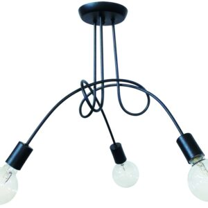 Φωτιστικό οροφής PLEX 3/L BLACK 01-0209