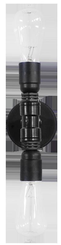 Industrial απλίκα/οροφής  PP-27PL 2L BLACK 31-0211