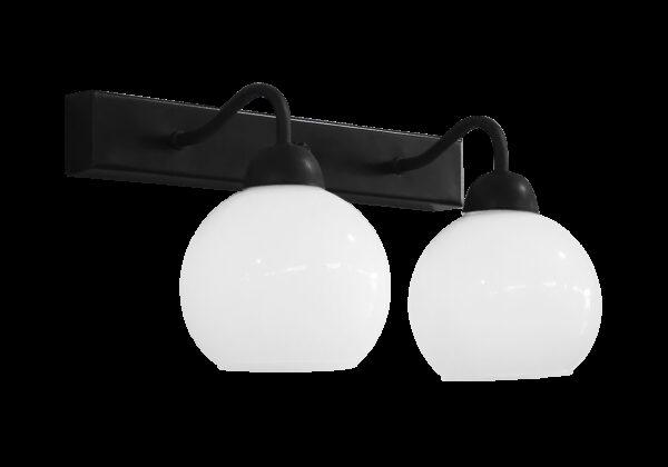 Φωτιστικό ράγα 2φωτη  AS-14ΑΡ 2/L RAGA BL-WH ΑΠΛΙΚΑ ΜΕΤ-ΓΥΑΛΙ 31-1203